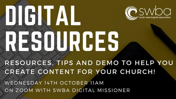 Digital Resources Webinar