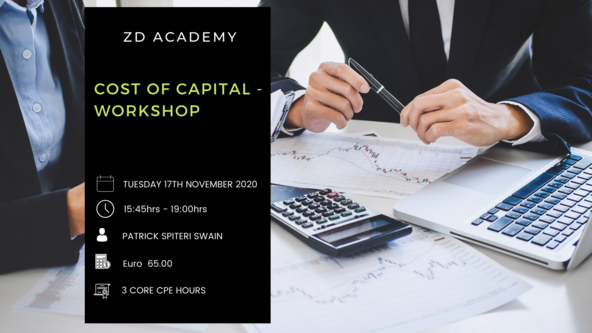 COST OF CAPITAL – WORKSHOP