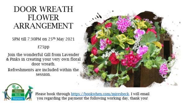 Door Wreath Flower Arrangement