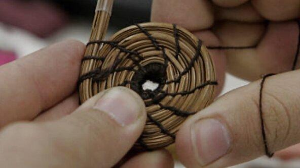 Pine Needle/Broom Corn Basket Weaving
