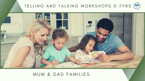 Telling & Talking In-Person workshop for parents of children aged 0-7 years - Heterosexual Couples