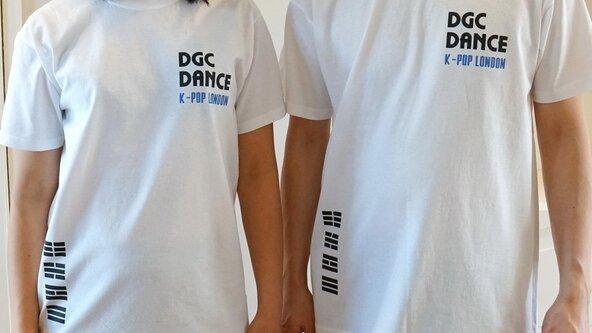 White DGC Dance Korean Flag Trigrams T-Shirt