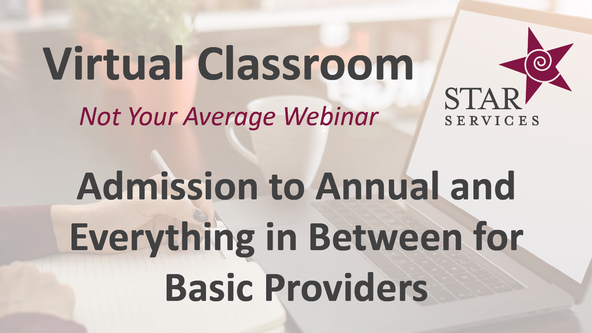 Admission to Annual and Everything in Between for Basic Providers - Virtual Classroom