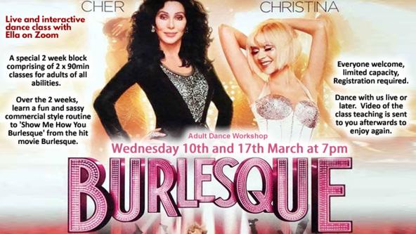 Burlesque (Film) 2-part Workshop Online