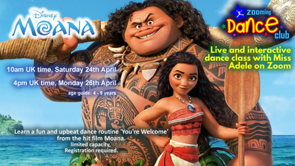 Moana - Dance Workshop with Miss Adele
