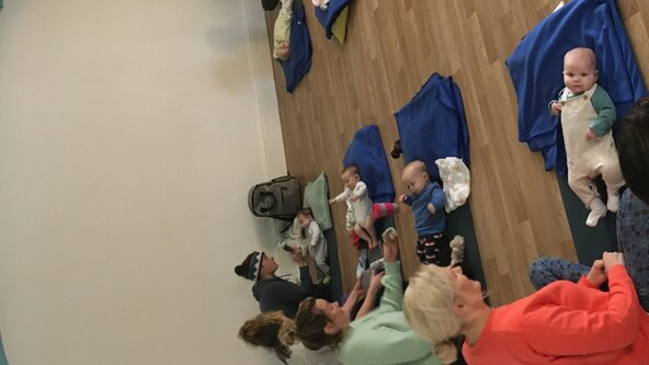 Mum & Baby yoga via online zoom Friday 11am-12pm
